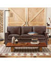 Adorn India Exclusive Rosina Leatherette Three Seater Sofa (Light Brown)