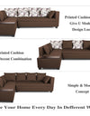 Adorn India Mclain L Shape 5 Seater Sofa (Left Side Handle)(Brown)