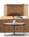 Adorn India Easy Three Seater Sofa Cum Bed 3' x 6' (Brown & Beige)