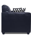 Adorn India Rio Highback Leatherette 5 Seater 3-1-1 Sofa Set (Black)