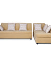 Adorn India Rio Highback L Shape 5 Seater coner Sofa Set (Beige)