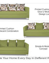 Adorn India Alita 3-1-1 Compact 5 setaer Sofa Set (Green)