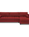 Adorn India Alexander L Shape Sofa (Right Side Handle)(Maroon)