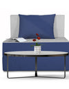 Adorn India Easy Single Seater Sofa Bed 3'x6' (Blue and Grey)