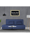 Adorn India Blake 3 Seater Sofa Cum Bed (Blue)