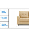 Adorn India Astor 3+1+1 Sofa Set (Beige)