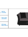 Adorn India Acura 3 Seater Sofa (Grey & Black)
