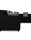 Adorn India Rio Highback L Shape 5 Seater coner Sofa Set (Black)