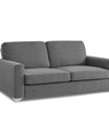 Adorn India Straight Line Five Seater Sofa Set 3-1-1 (Grey)