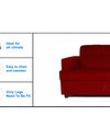 Adorn India Aleena 3 Seater Sofa(Maroon)