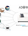 Adorn India Plush Leatherette 3-1-1 Sofa Set (White)