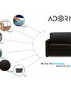 Adorn India Exclusive Flavio Leaterette 3-1-1 Sofa Set (Black)