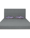 Adorn India Easy Highback Two Seater Sofa Cum Bed Floral 4' x 6' (Grey)