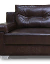 Adorn India Soleado Leatherette  Five Seater Sofa Set 3-2 (Brown)