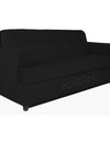 Adorn India Aleena 3 Seater Sofa(Black)