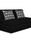 Adorn India Easy Highback Three Seater Sofa Cum Bed Rhombus 6' x 6' (Black)