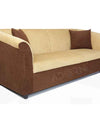 Adorn India Acura 3 Seater Sofa (Brown & Beige)