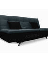 Adorn India Aspen Three Seater sofa cum bed (Dark Grey & Black)