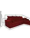 Adorn India Comfort Line Corner Cumbed Five Seater Sofa (Maroon)