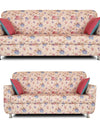 Adorn India Roselyn 3+2 Sofa Set Digitel Print (Beige)