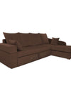 Adorn India Comfort Line Corner Cumbed Five Seater Sofa (Brown)