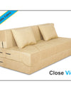 Adorn India Easy Two Seater Sofa Cum Bed Alyn 4'x 6' (Beige)
