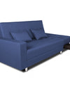 Adorn India Flora Sofa Cum bed (Blue)