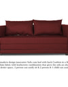 Adorn India Straight line 3 Seater Sofa Cum Bed (Maroon)