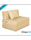 Adorn India Easy Single Seater Sofa Cum Bed Alyn 3'x 6' (Beige)