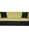 Adorn India Acura 3 Seater Sofa(Green & Black)