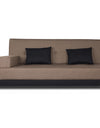 Adorn India Exclusive Two Tone Blake Three Seater Sofa Cum Bed (Camel & Black)