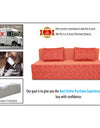 Adorn India Easy Three Seater Sofa Cum Bed Poly Cotton 6'X6' (Rust)