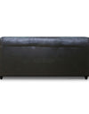 Adorn India Webster Leatherette Three Seater Sofa (Black)