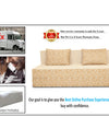 Adorn India Easy Three Seater Sofa Cum Bed Poly Cotton 6'X6' (Beige)