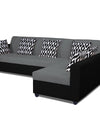 Adorn India Rio Highback L Shape 5 Seater coner Sofa Set (Grey & Black)