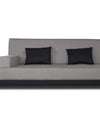 Adorn India Exclusive Two Tone Blake Three Seater Sofa Cum Bed (Light Grey & Black)