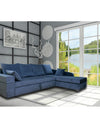 Adorn India Comfort Line Corner Cumbed Five Seater Sofa (Grey)
