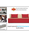Adorn india Easy Three Seater Sofa Cum Bed (3 Years Warrenty Quality Foam)-Perfect for Seat & Sleep Washeble Polyster Fabric Cover (Red & Beige) 6'x6'.Pillows Free