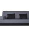 Adorn India Exclusive Two Tone Blake Three Seater Sofa Cum Bed (Dark Grey & Black)