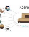 Adorn India Exclusive Two Tone Blake Three Seater Sofa Cum Bed (Brown & Beige)