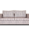 Adorn India Lancia 3 Seater Sofa Digitel Print (Grey)