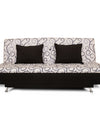 Adorn India Berry 3 Seater Sofa Cum Bed Digitel Print (Grey & Black)