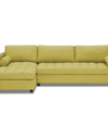 Adorn India Alexander L Shape Sofa (Left Side Handle)(Green)