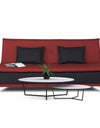 Adorn India Exclusive Two Tone Arden Three Seater Sofa Cum Bed (Maroon & Black)