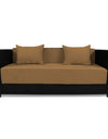 Adorn India Almond Three Seater Sofa Cum Bed (Black and Camel)