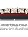 Adorn India Exclusive Two Tone Alica Three Seater Sofa (Maroon & Black)