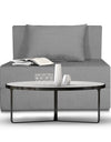 Adorn India Easy Single Seater Sofa Cum Bed Alyn 3'x 6' (Grey)