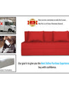 Adorn India Easy Three Seater Sofa Cum Bed Alyn 6'x 6' (Red)