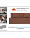 Adorn India Easy Three Seater Sofa Cum Bed Alyn 5'x 6' (Brown)