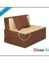 Adorn India Easy Single Seater Sofa Cum Bed 3'x6' (Brown and Beige)